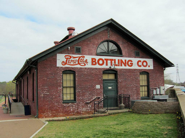 Old brick PepsiCo Bottling building, Danville, VA