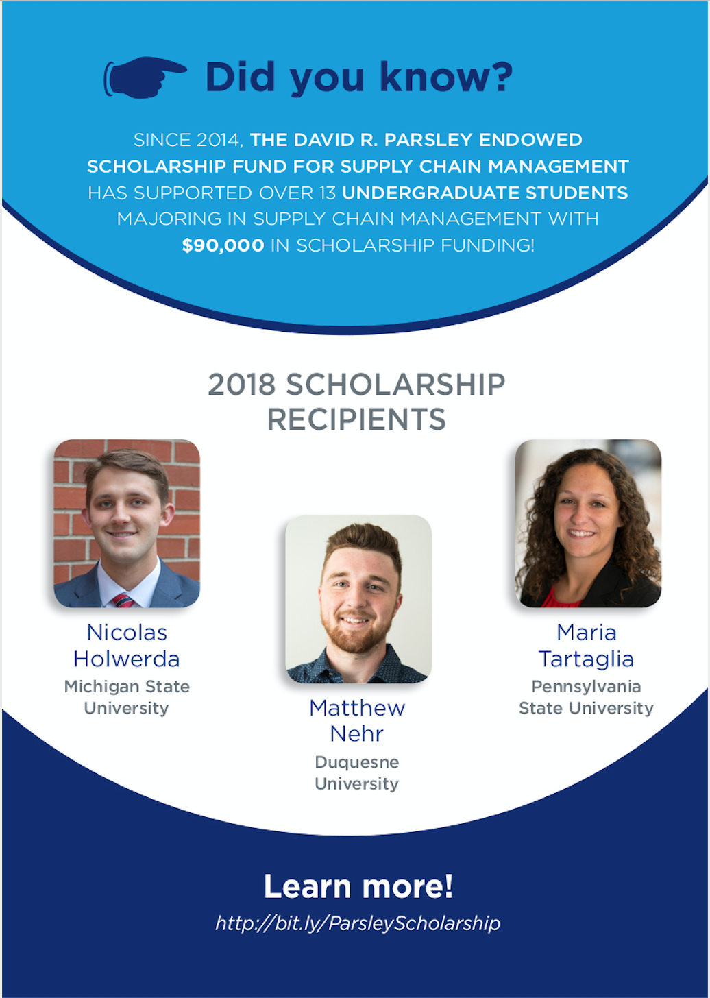 Supply Chain Scene, image of scholarship winners