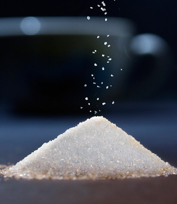 SCS, image of a small pile of raw sugar