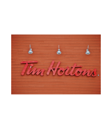 SCS, image of a Tim Hortons logo on the side of a building