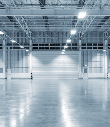 SCS, image of a large empty warehouse