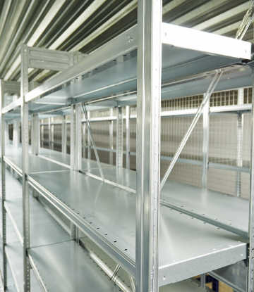 SCS, image of empty warehouse shelves