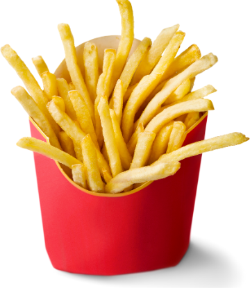 SCS, image of a red box of fast food french fries