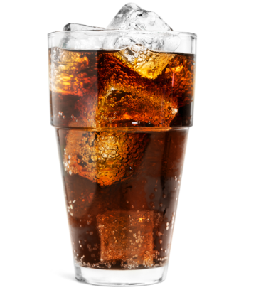 SCS, image of a glass of cola with ice