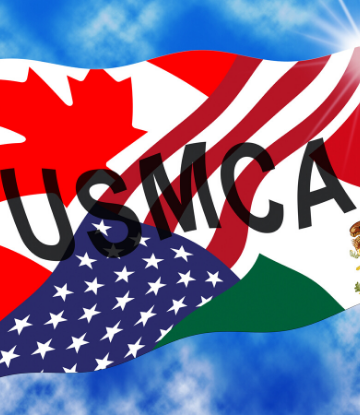SCS, image of a flag that reads USMCA