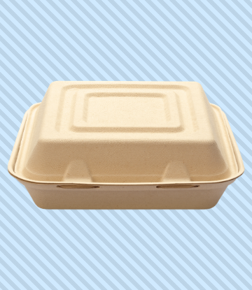 Iage of a clam shell to-go meal package