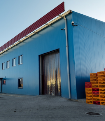 Image of the exterior of a cold storage building