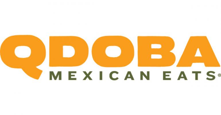 Qdoba Mexican Eats logo (orange and green text)