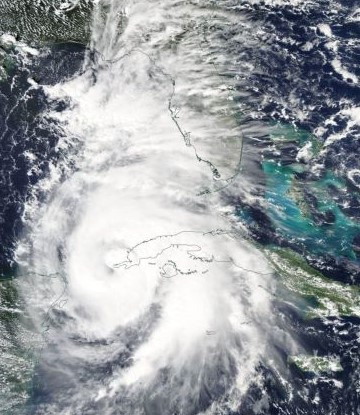 Image of Hurricane Michael from NASA satellite