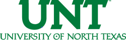 University of North Texas logo (Green letters with white background)