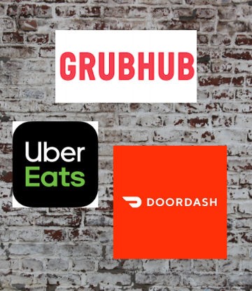 Supply Chain Scene, image of Uber Eats, Grub Hub and DoorDash logos