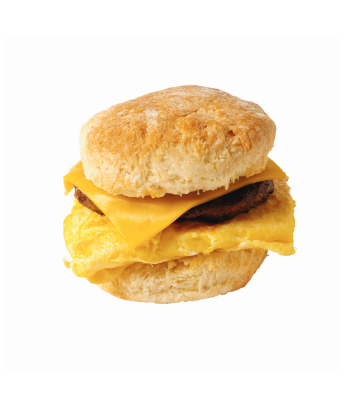 SCS, image of a breakfast biscuit sandwhich with egg and cheese