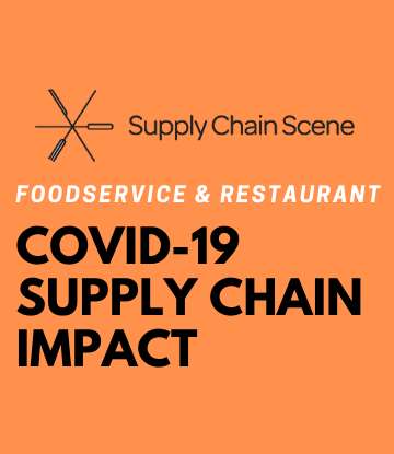 SCS, Orange text box with logo - COVID-19 Supply Chain Impact Coverage