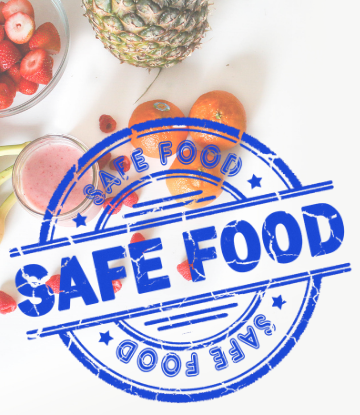 Graphic that reads FOOD SAFETY